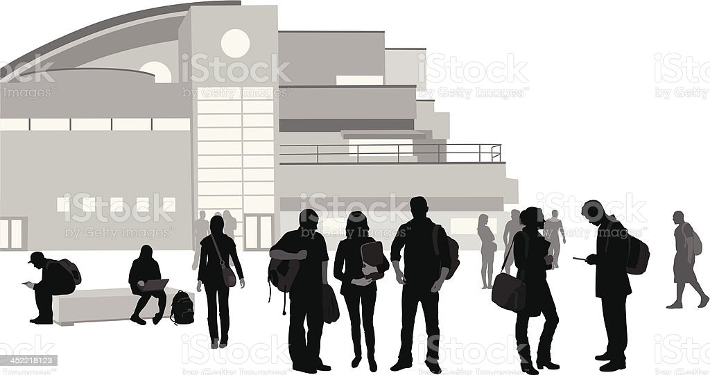 Students On Campus royalty-free stock vector art