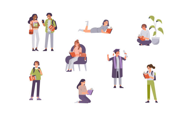 öğrenci - student stock illustrations