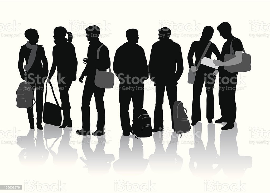 royalty free college students clip art vector images rh istockphoto com clip art students reading clip art students writing