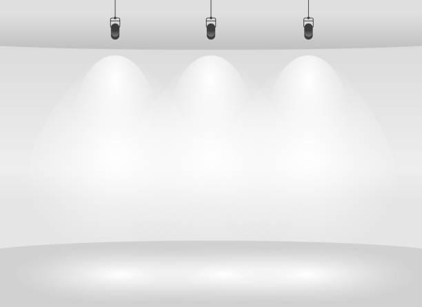 Studio backdrop mockup Studio backdrop mockup design spotlight stock illustrations