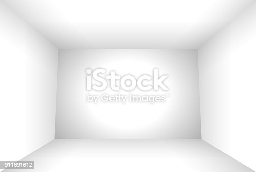 Studio backdrop white box illuminated background