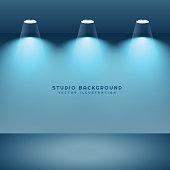 studio background with three lights