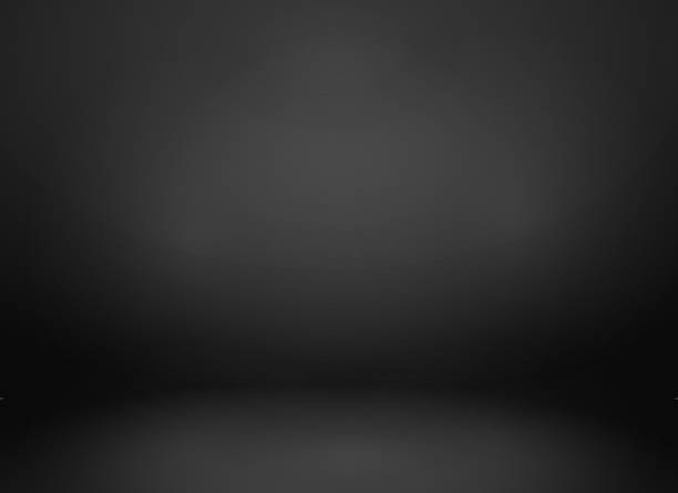 studio black mockup empty studio backdrop in black studio stock illustrations
