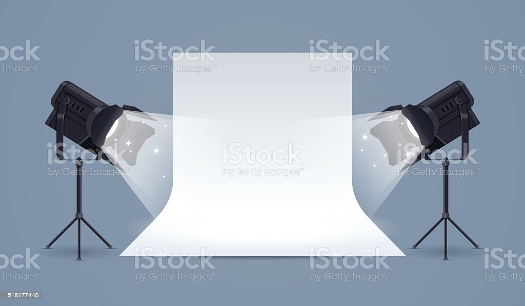 Illuminazione da studio allestimento immagini vettoriali stock e