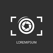 Studio logo on a grey background  flat icon