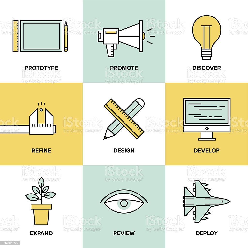 Studio product development flat icons royalty-free studio product development flat icons stock vector art & more images of abstract