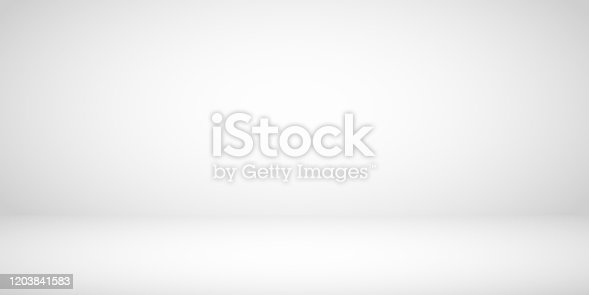 istock Studio Room Gray Background 1203841583