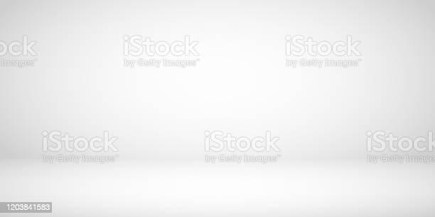 Studio Room Gray Background - Arte vetorial de stock e mais imagens de Abstrato