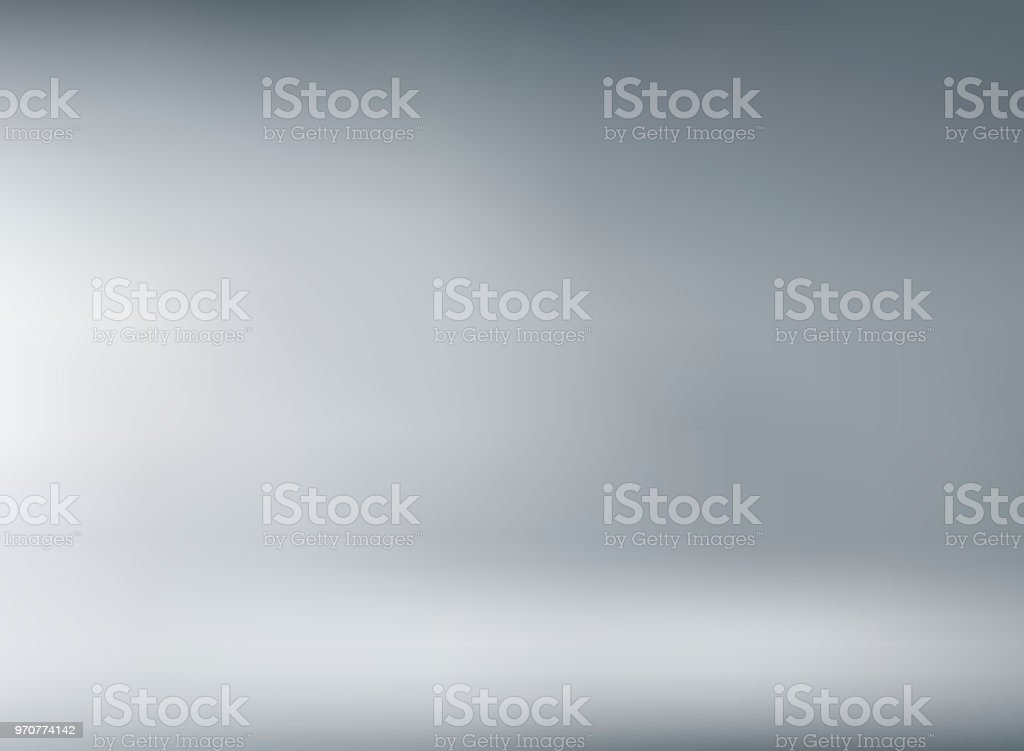 Studio room gray background with soft lighting. vector art illustration
