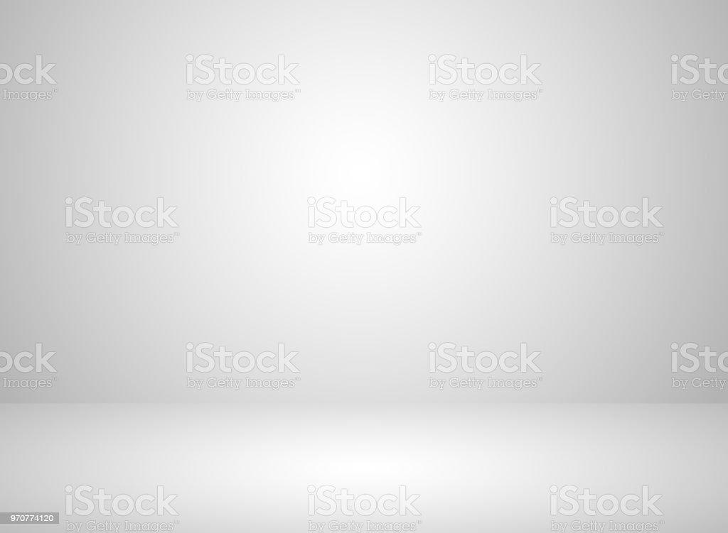 Fundo de cor branca interior de quarto estúdio com efeito de iluminação - Vetor de Abstrato royalty-free