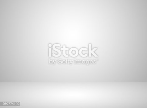 istock Studio room interior white color background with lighting effect 970774120