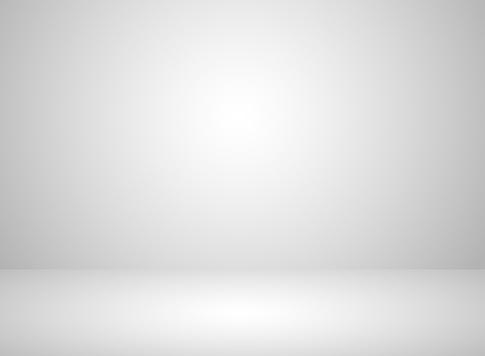 Vetores de Fundo De Cor Branca Interior De Quarto Estúdio Com Efeito De Iluminação e mais imagens de Abstrato