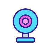study camcorder icon vector. study camcorder sign. color symbol illustration