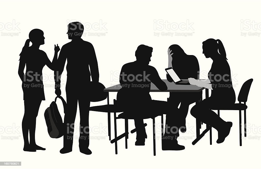 Study Group Vector Silhouette royalty-free stock vector art