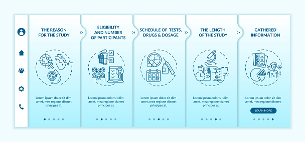 Study protocol onboarding vector template