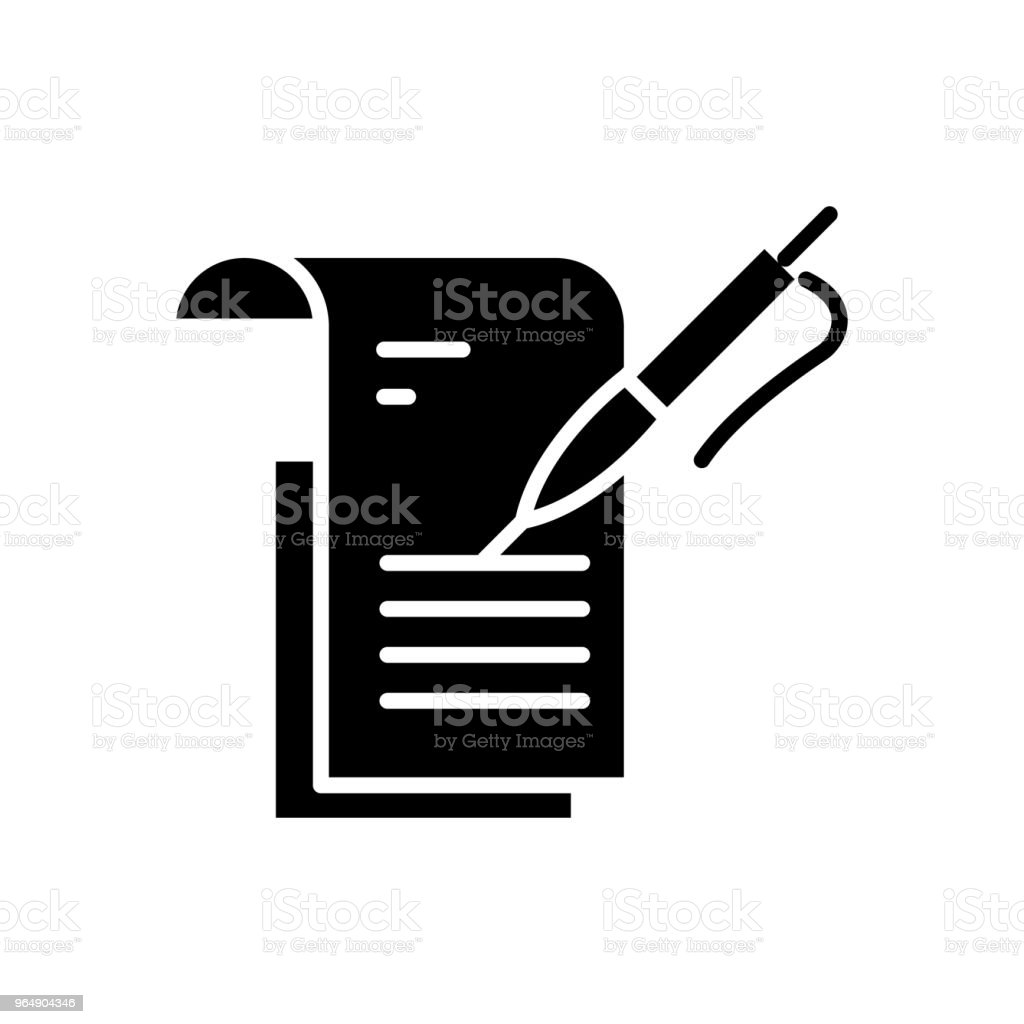 Study report black icon concept. Study report flat  vector symbol, sign, illustration. royalty-free study report black icon concept study report flat vector symbol sign illustration stock vector art & more images of book