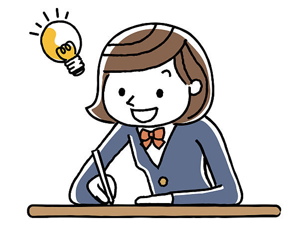 study to schoolgirls - 高等学校点のイラスト素材/クリップアート素材/マンガ素材/アイコン素材