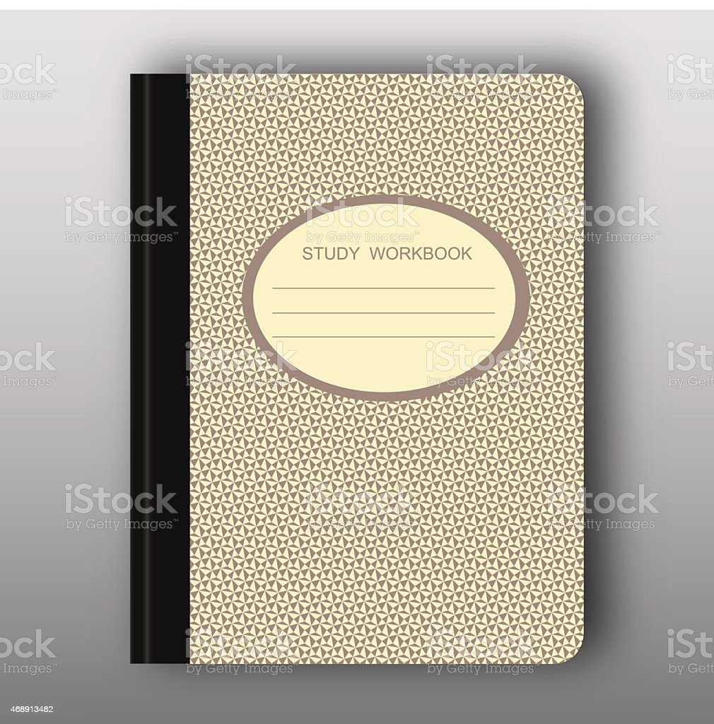 Study workbook cover vector art illustration