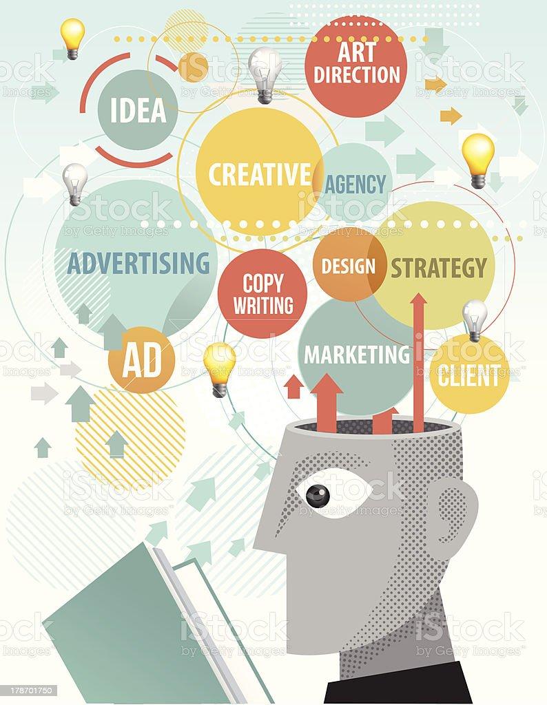広告代理店の勉強 ベクターアートイラスト