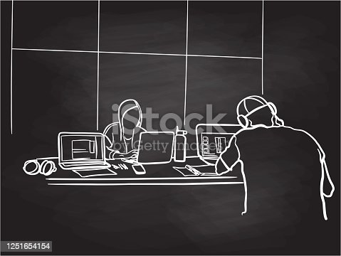 istock Studying Together At College Chalkboard 1251654154