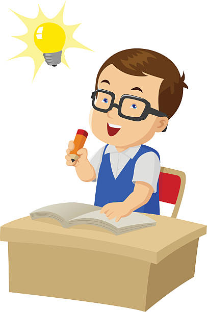 Smart Boy Clip Art, Vector Images & Illustrations - iStock
