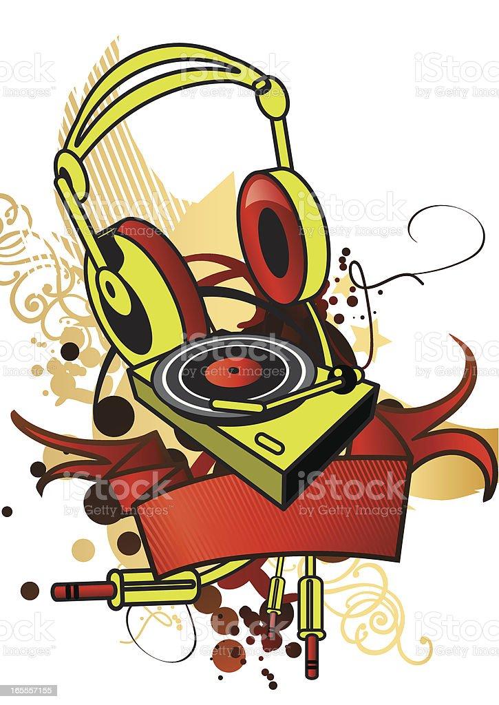 DJ Stuff royalty-free stock vector art