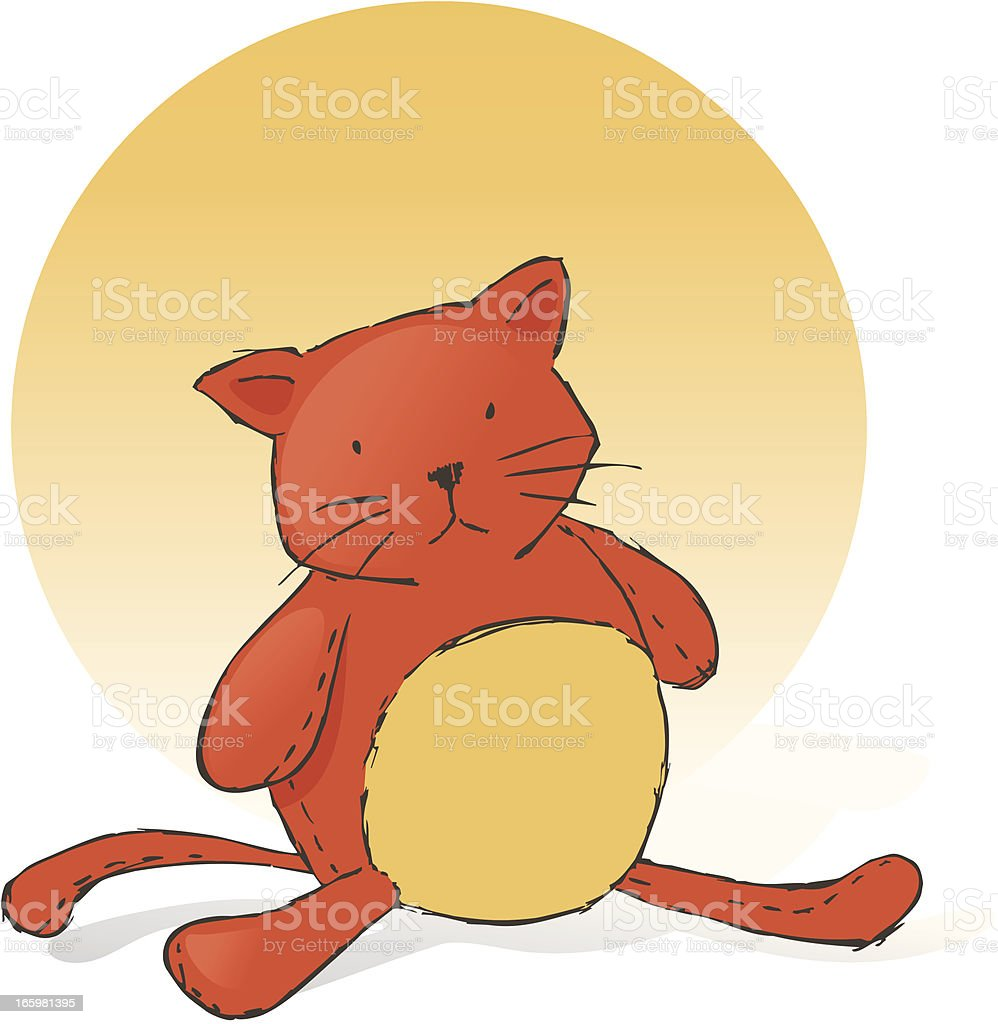 Stuffed Cat royalty-free stuffed cat stock vector art & more images of animal
