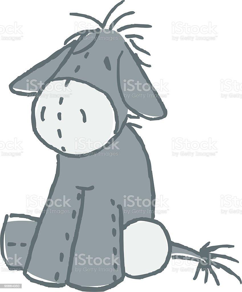 Stuffed Donkey royalty-free stock vector art