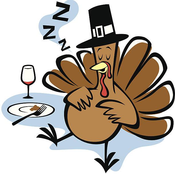 Stuffed Turkey vector art illustration