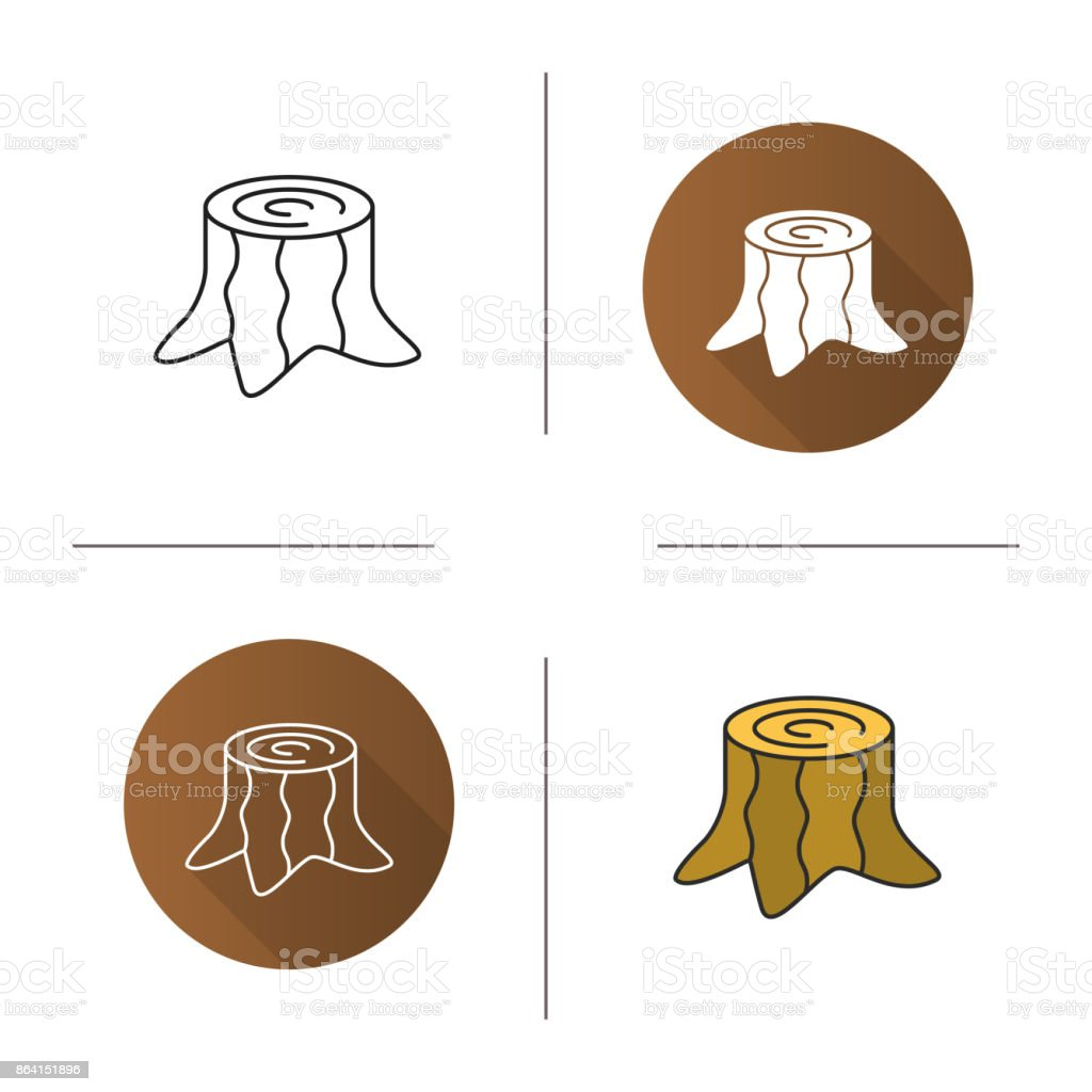 Stump icon royalty-free stump icon stock vector art & more images of business finance and industry