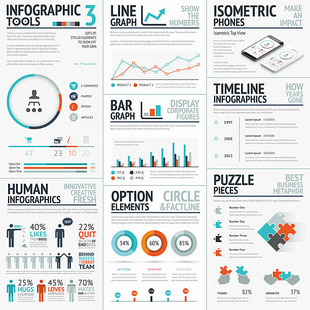 stunning infographic elements vector set for your projects to impact - demographics infographics stock illustrations, clip art, cartoons, & icons