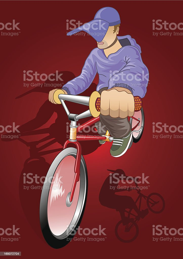 stunt biker royalty-free stunt biker stock vector art & more images of adult