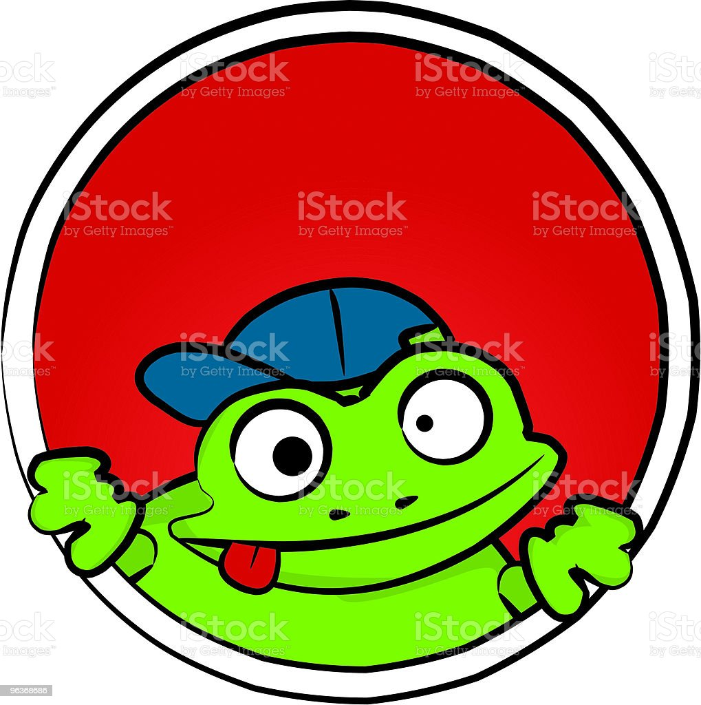 Stupid Frog [ acting silly ] royalty-free stock vector art