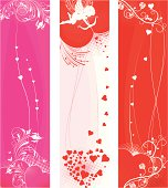 St.Valentine's day banners set