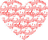 Music Heart Shape for St.Valentine's Day