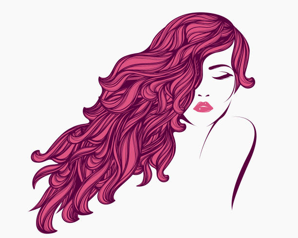 style, beauty and hair salon vector illustration - redhead stock illustrations, clip art, cartoons, & icons