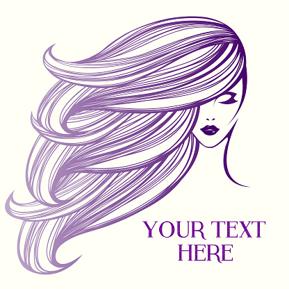 style beauty and hair salon vector illustration stock