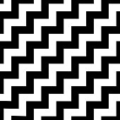 Classic chevron zigzag seamless pattern.  group style black and white background