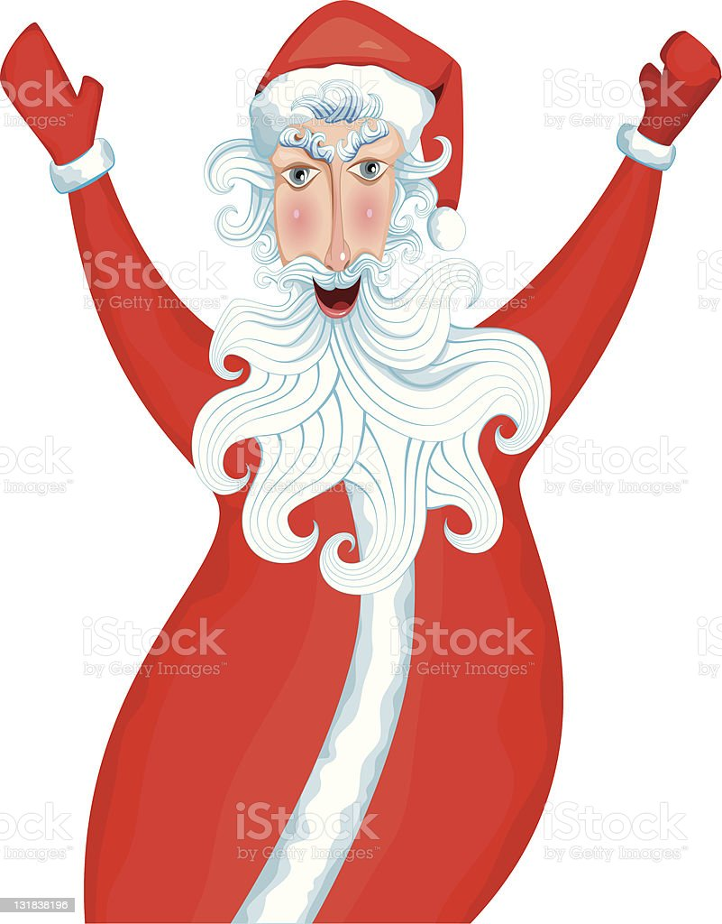Style Christmas Santa royalty-free stock vector art