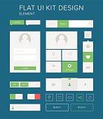 Style flat design ui kit elements
