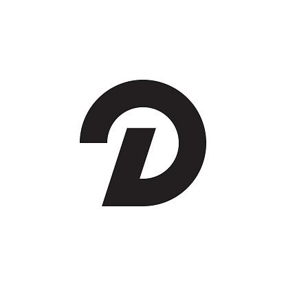 D style logo icon shape