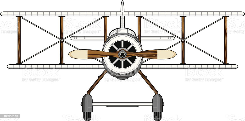 WW1 Style Military Biplane royalty-free stock vector art
