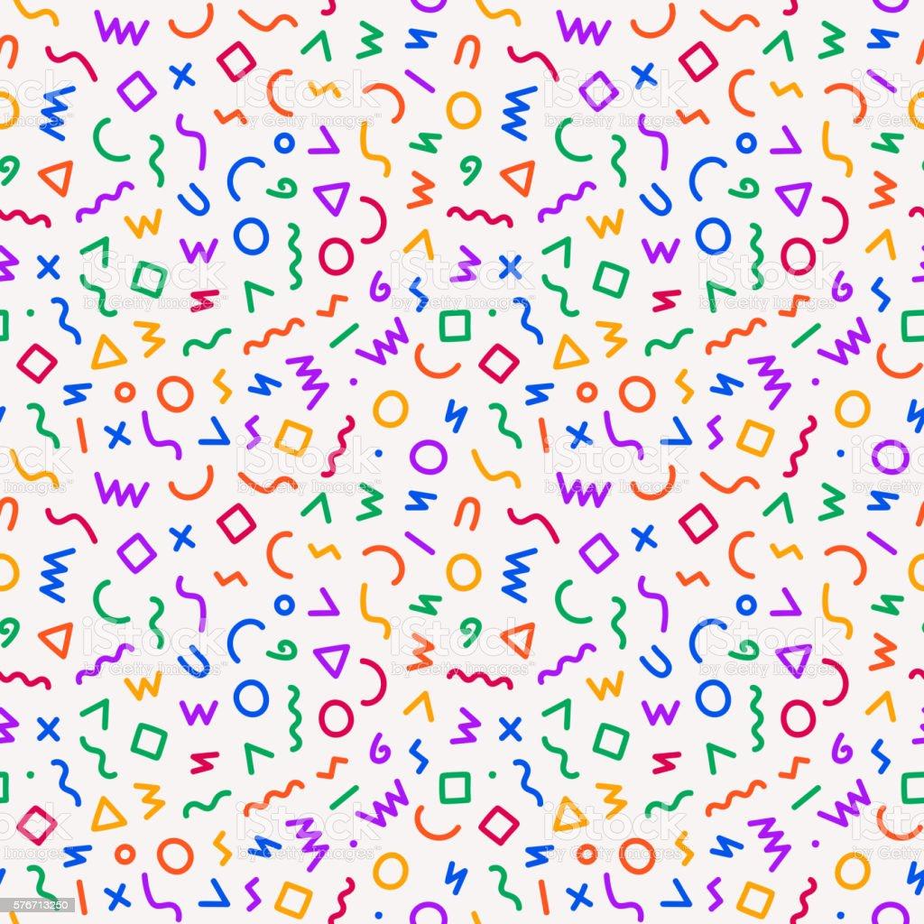style seamless pattern vector art illustration