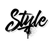 Style. Lettering. Vector illustration.