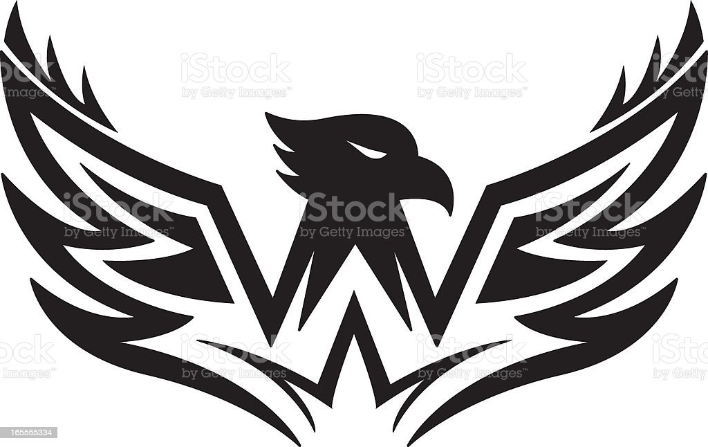 Stylised Eagle Logo royalty-free stylised eagle logo stock vector art & more images of animal