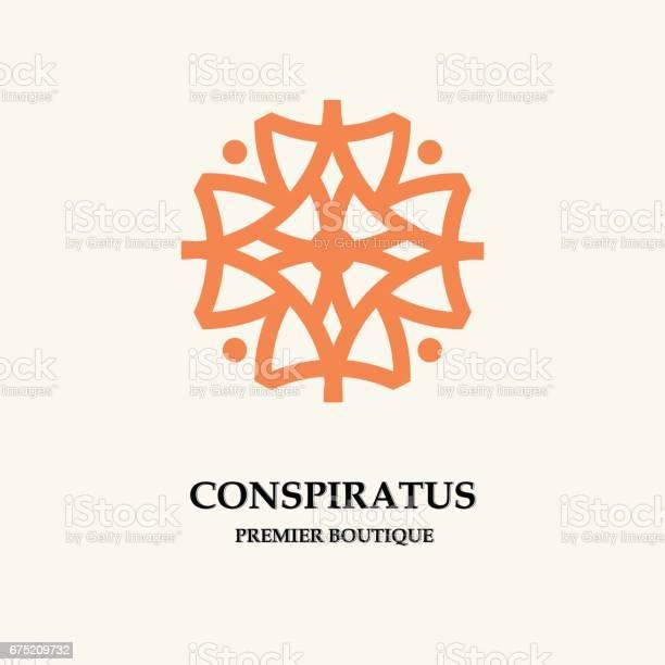 Stylish abstract flower template for logo emblem badge monogram vector id675209732?b=1&k=6&m=675209732&s=612x612&h=mx3lh5ha vospw ahxxoiobkn7ku17fqzq30mjw7b 8=