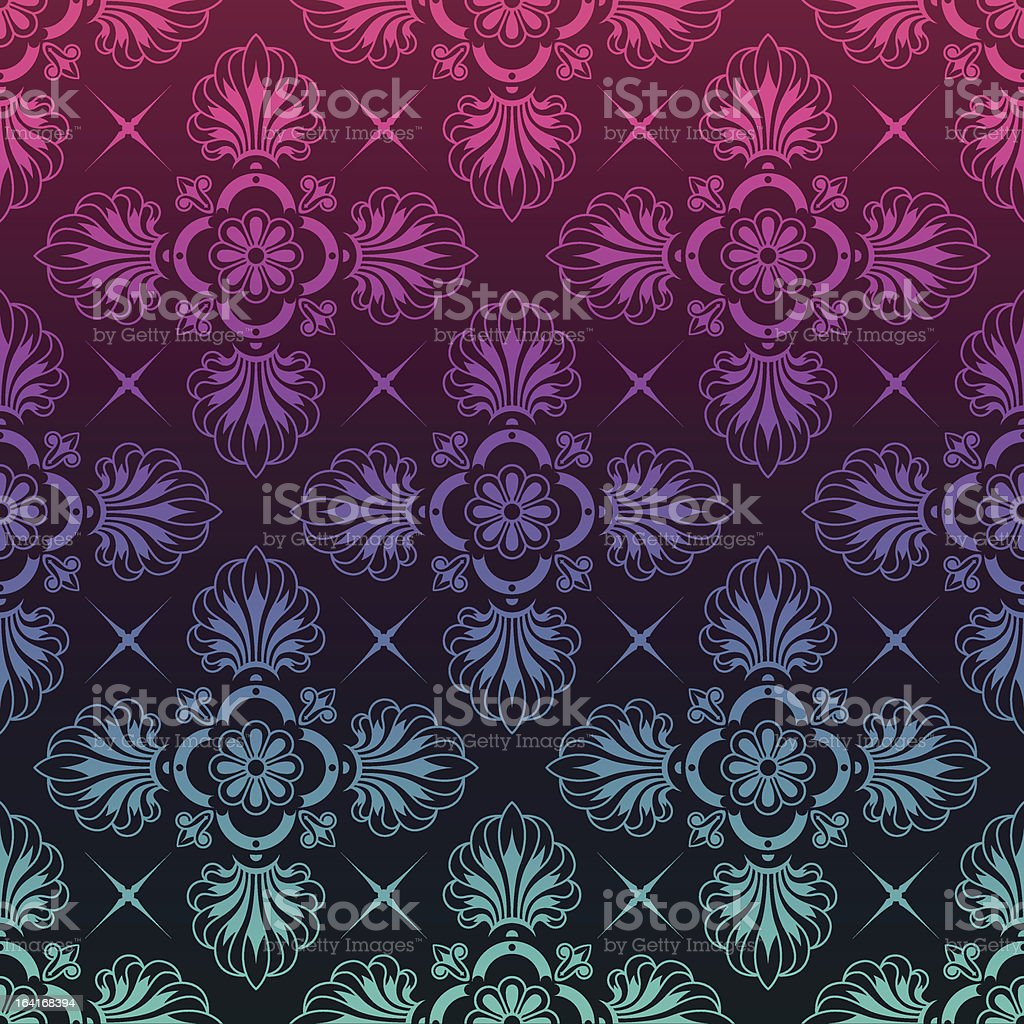 Stylish background made of floral pattern royalty-free stock vector art