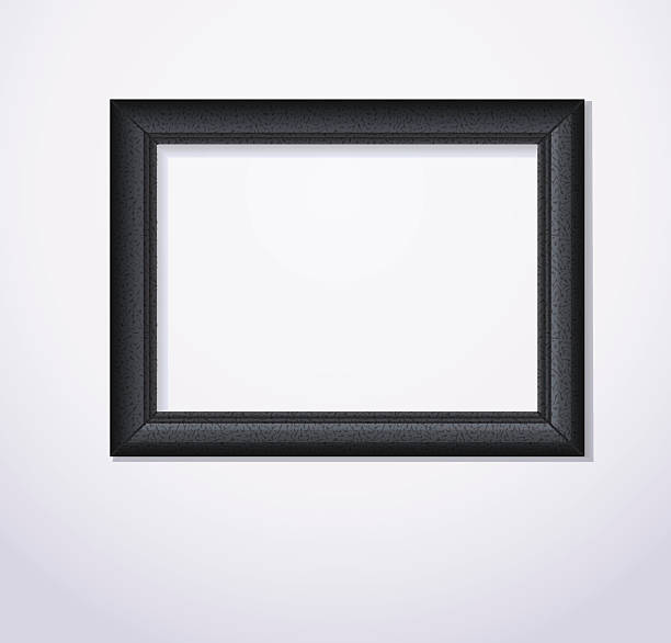 elegante schwarze photoframe. vektor-illustration - fotoposen stock-grafiken, -clipart, -cartoons und -symbole