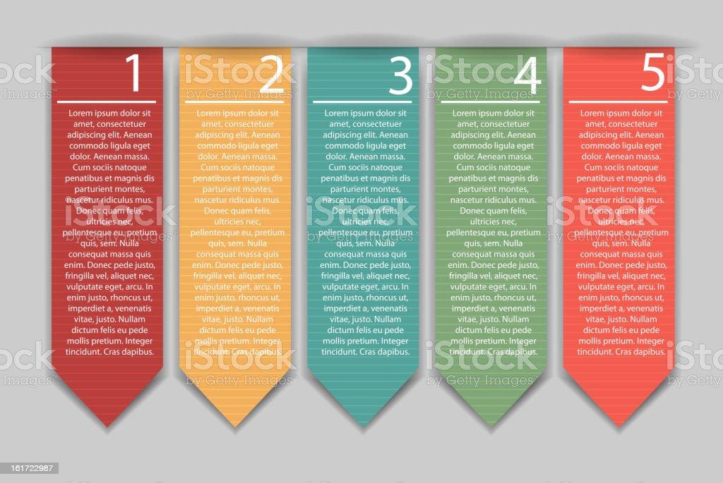 Stylish bookmarks. Vector illustration. vector art illustration