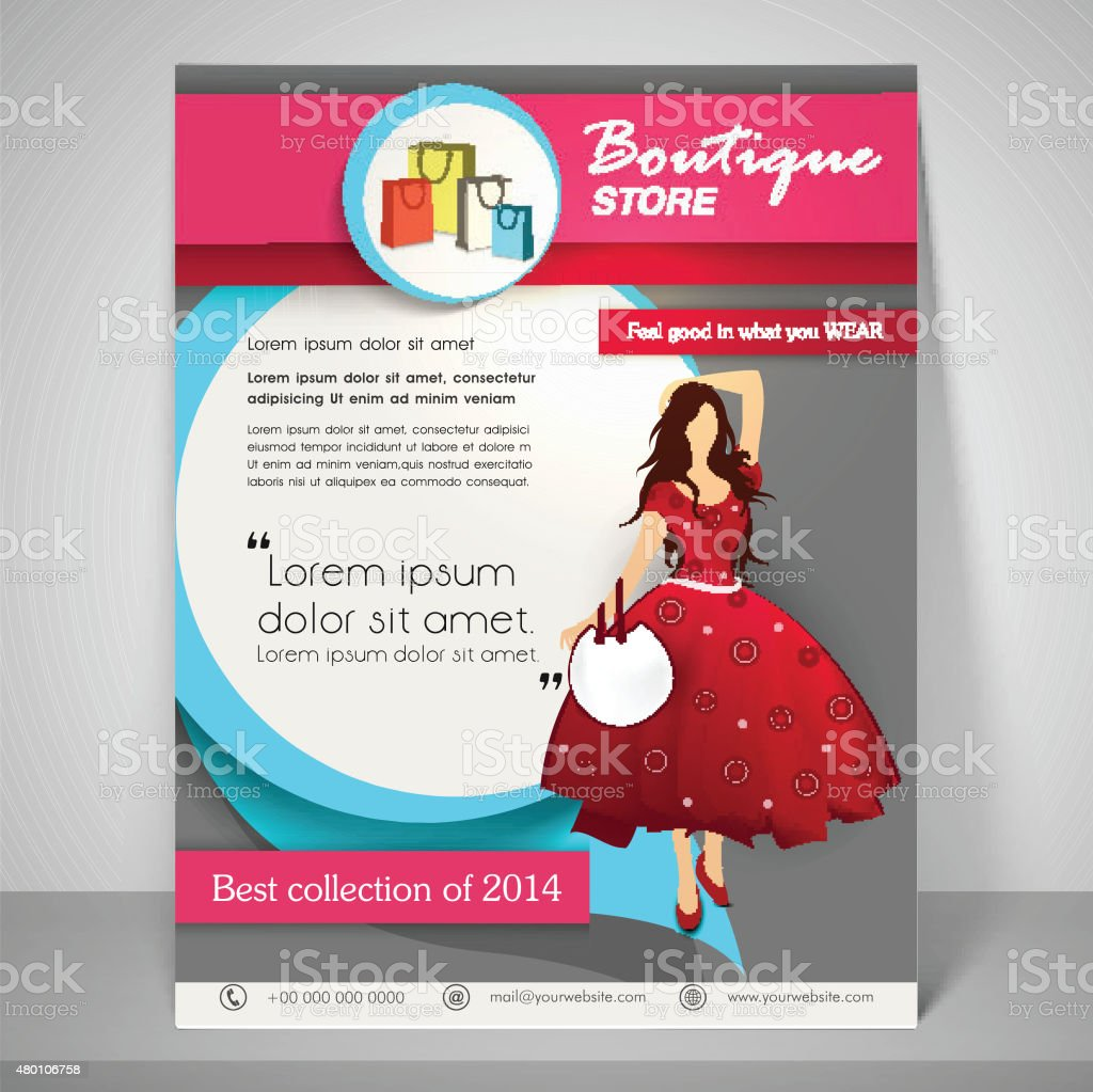 boutique flyer template free best high quality templates ideas